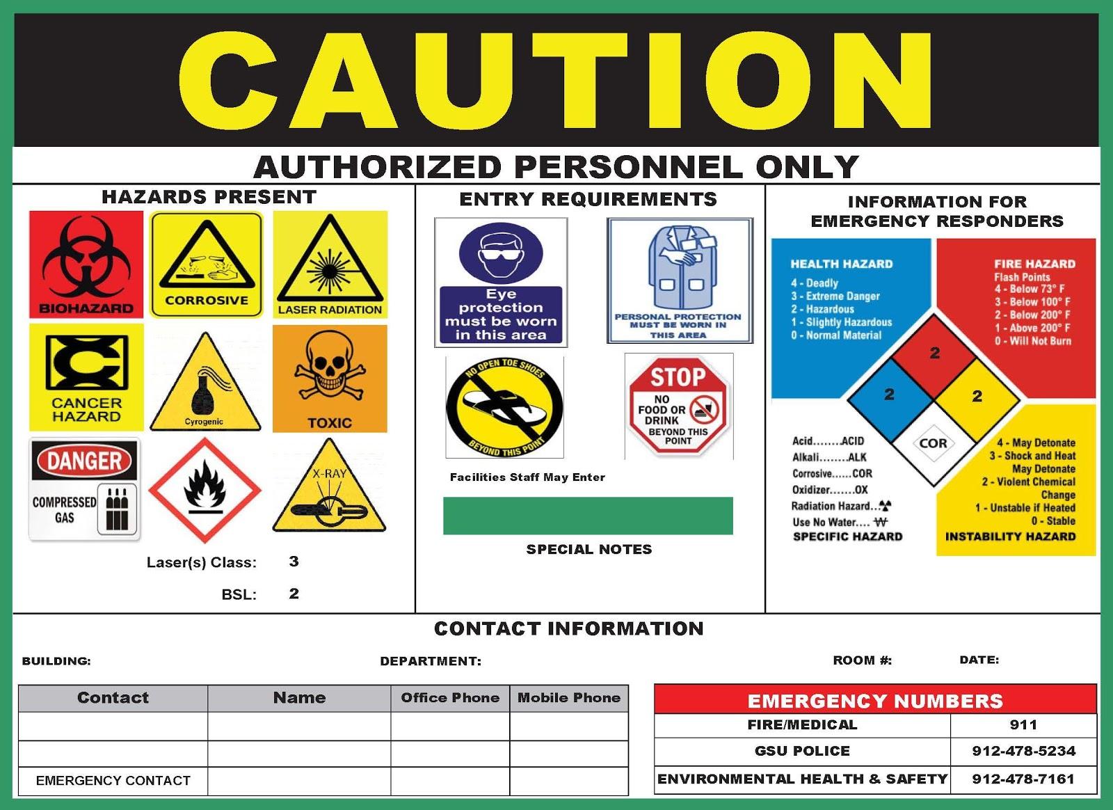 Hazard Caution Sign